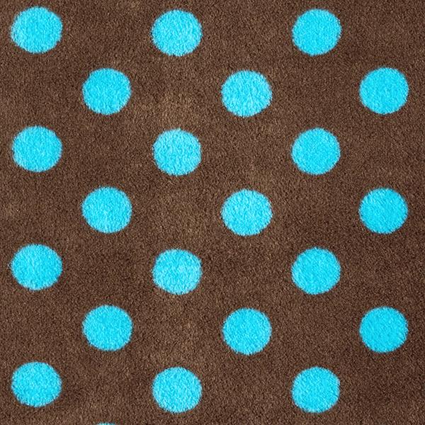 Polaire bien-être Points – marron/turquoise