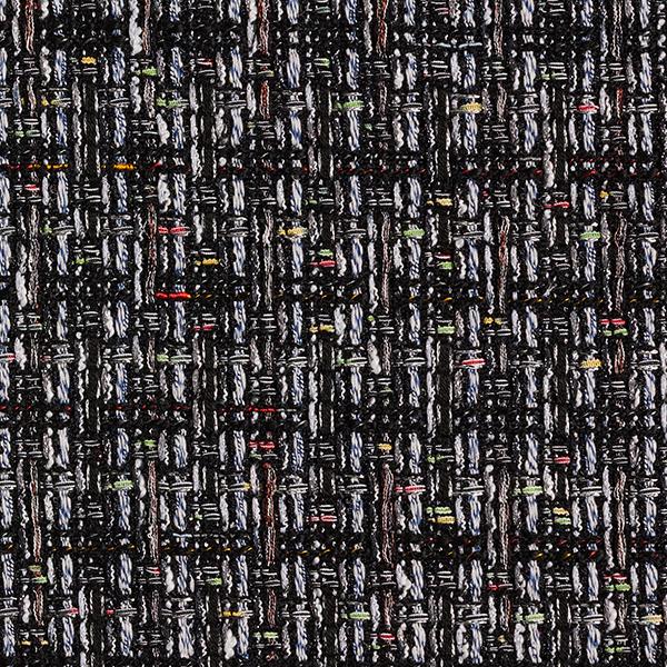 Tissu bouclé Kelly – noir/blanc