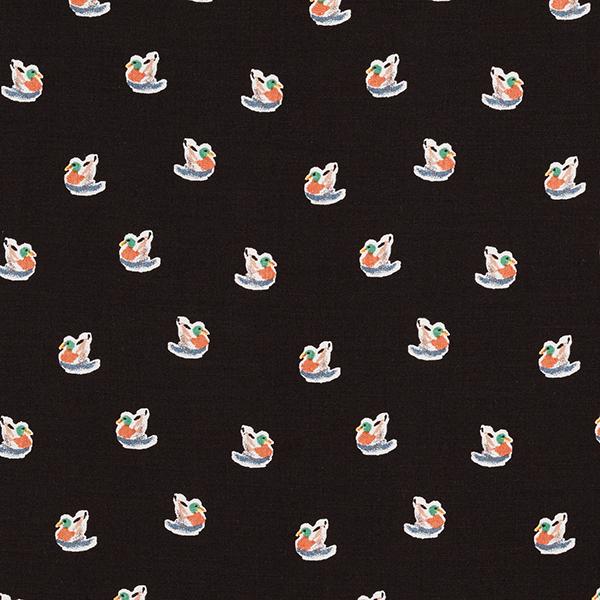 Feines Viskosegewebe Enten – schwarz