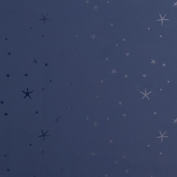 Tissu pour veste de pluie Étoiles brillantes – bleu nuit