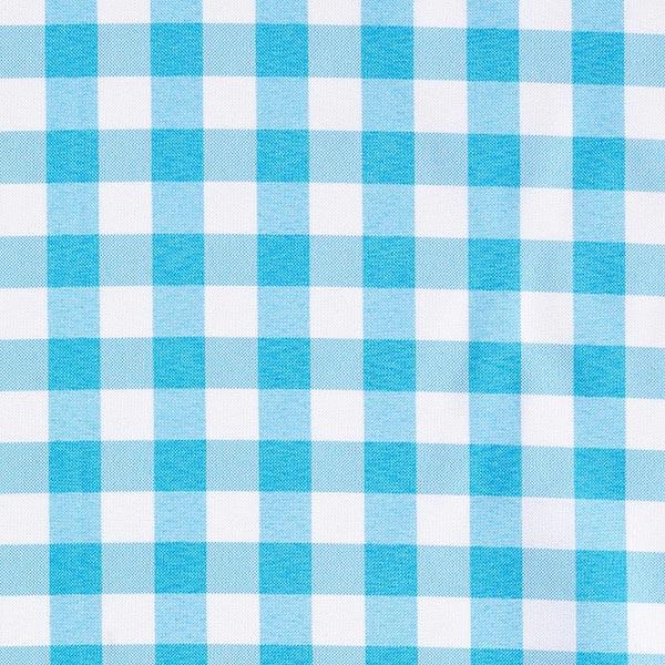 Tissu de décoration Carreaux – bleu turquoise