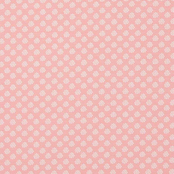 Jersey coton Flower Dream Dots – rose/blanc | MEZ