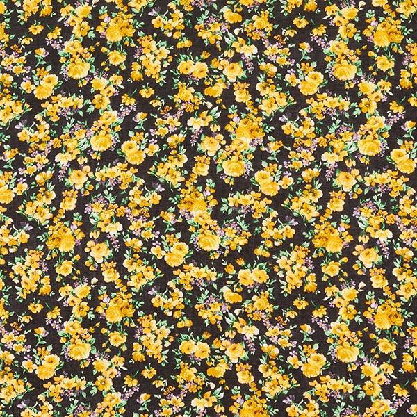 Voile Milefleurs groß – schwarz/gelb