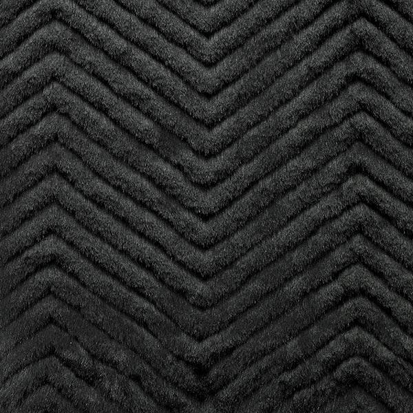Fourrure synthétique Zigzag – noir