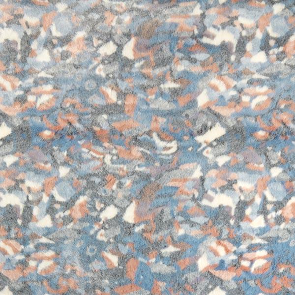 Kunstfell Camouflage – grau/rosé