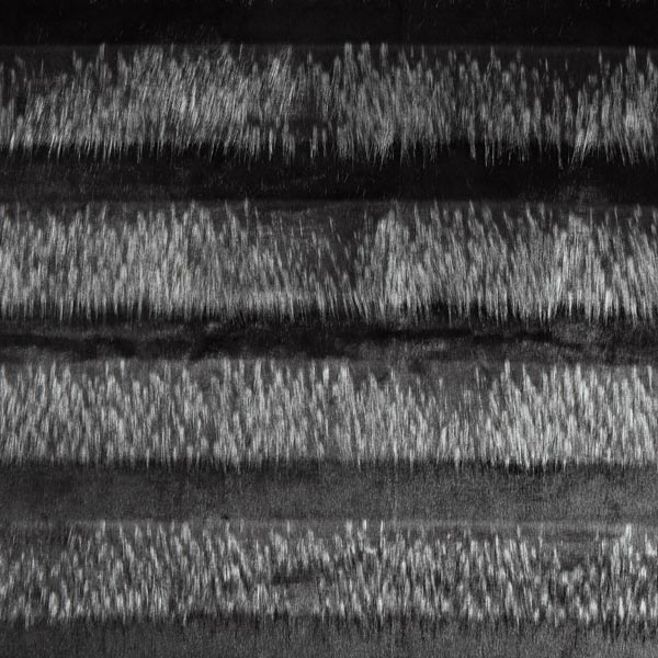 Kunstfell Graue Streifen – schwarz/grau