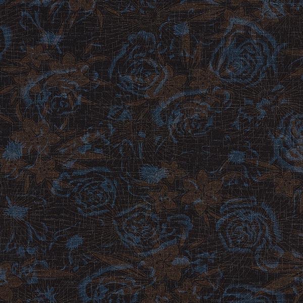Romanit Jersey Schattenblumen – noir