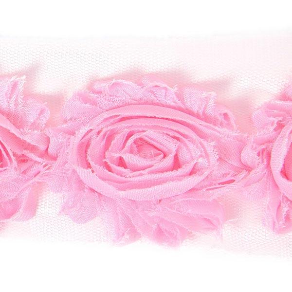 Dentelle à motif floral 4