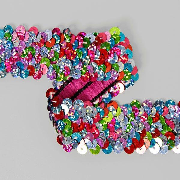 Galon pailleté élastique coloré 3