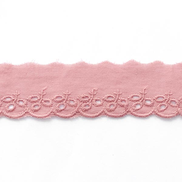 Feston ruban dentelle feuilles [ 30 mm ] – rose