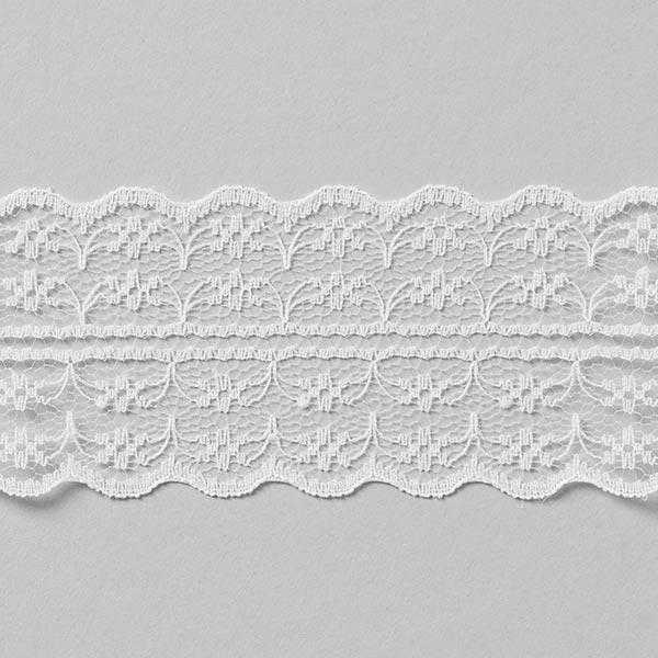 Galon Dentelle voile [48 mm] - blanc