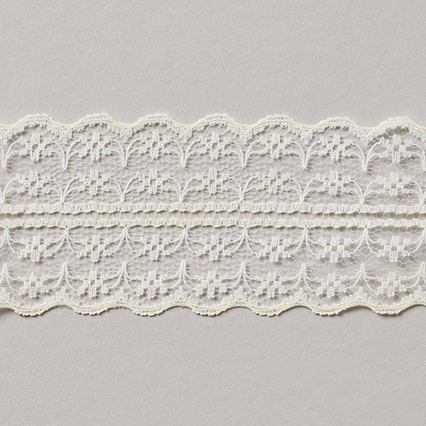 Galon Dentelle voile [48 mm] - blanc cassé