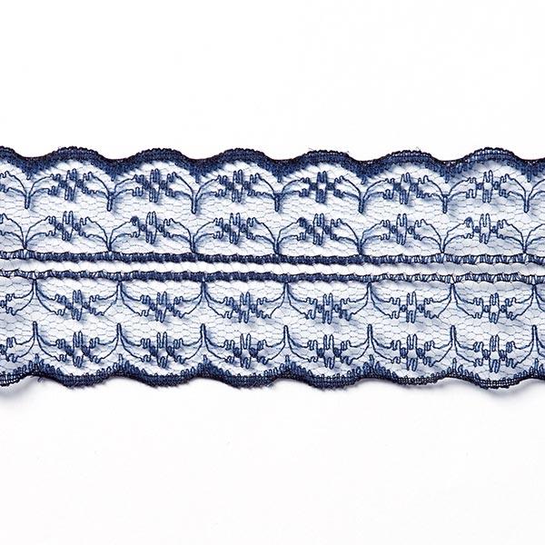 Galon Dentelle voile [48 mm] - bleu marine