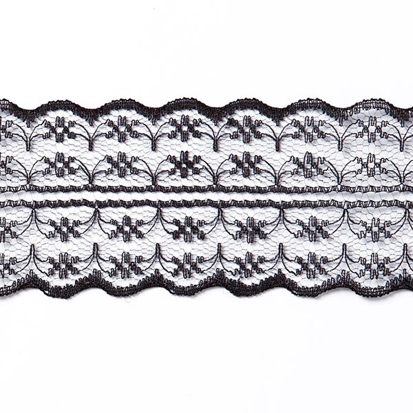 Galon Dentelle voile [48 mm] - noir