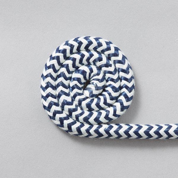 Cordon Big zigzag [Ø10 mm] - navy/blanc