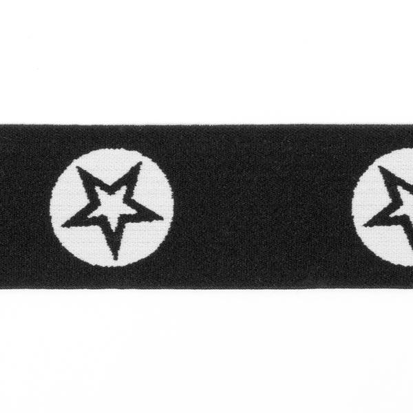 Bande de caoutchouc Stars [40 mm] - noir
