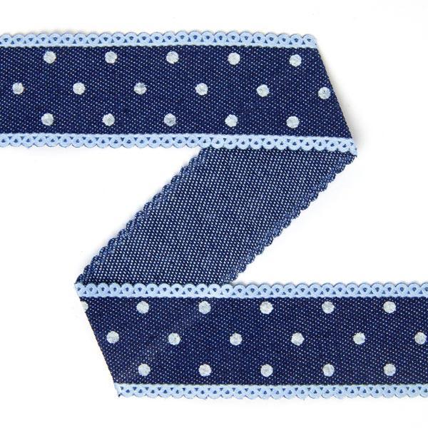 Bande jeans à pois – bleu marine