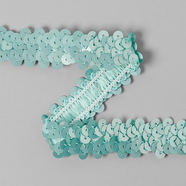 Galon pailleté élastique (20mm) 5 – bleu aqua