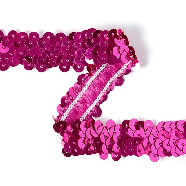 Galon pailleté élastique (20mm) 8 – rose vif