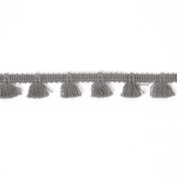 Galon à franges [15 mm] - gris foncé