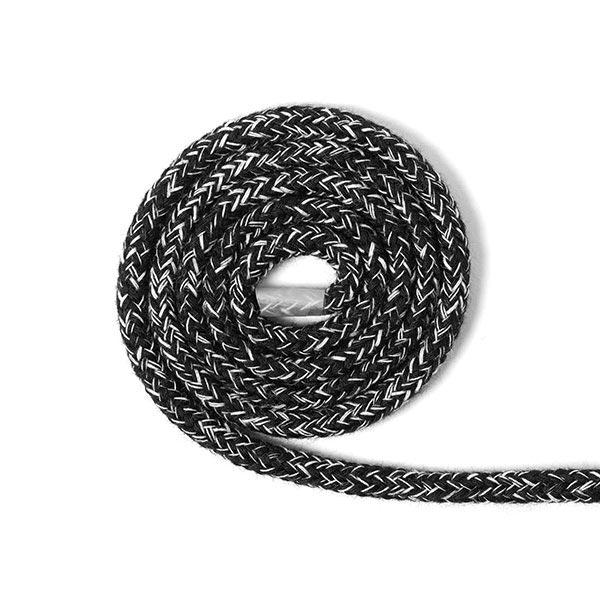 Kordel Melange [Ø 4 mm] - schwarz