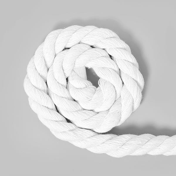 Cordon en coton [Ø 14 mm] 1 - blanc