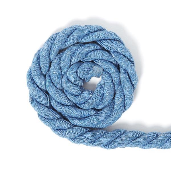 Cordon en coton [Ø 14 mm] 14 - bleu-gris