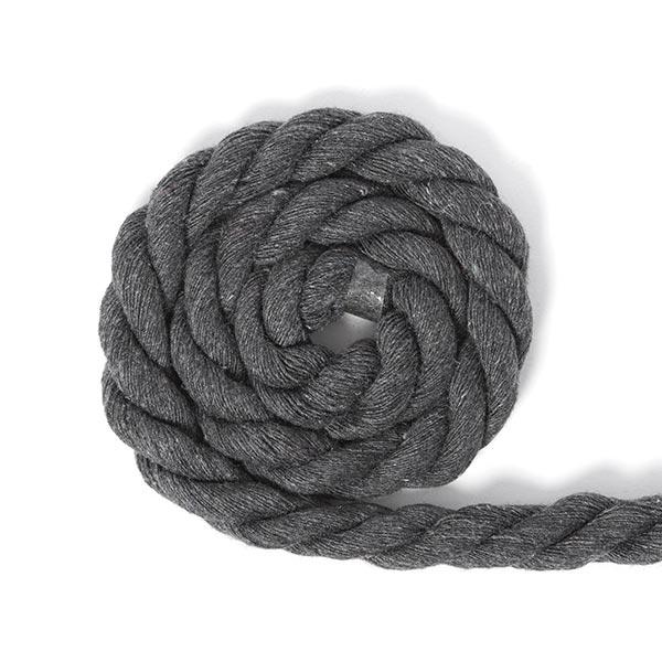 Cordon en coton [Ø 14 mm] 17 - gris foncé
