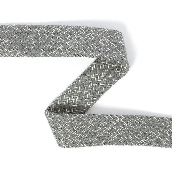 Cordon tubulaire chiné pour sweatshirts à capuche [20 mm] 7 - gris