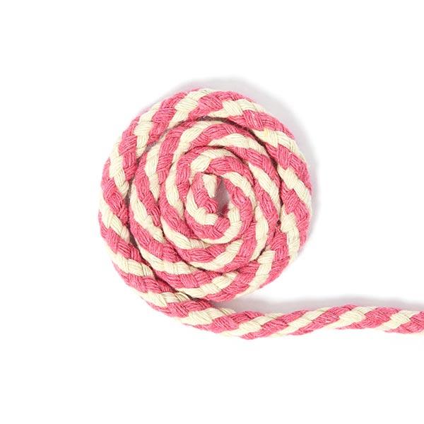 Baumwollkordel Two Tone [Ø 6 mm] - pink, natur