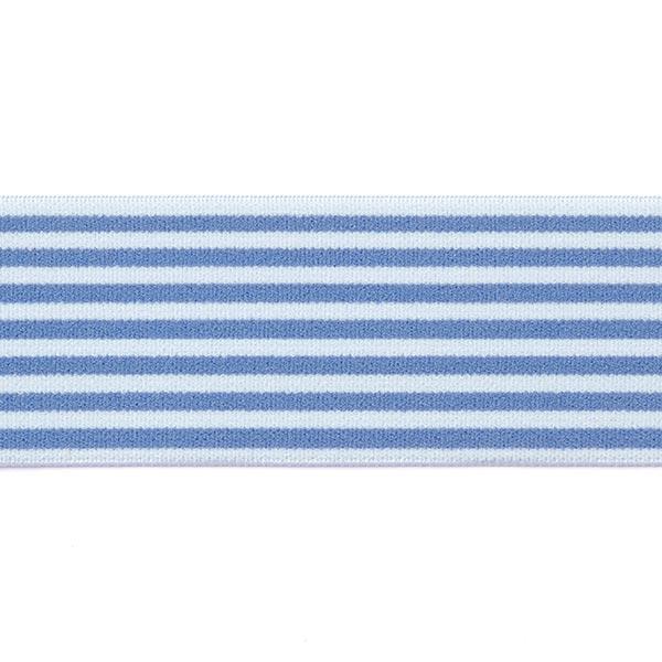 Ruban élastique avec bordure à rayures [40 mm] - bleu-gris
