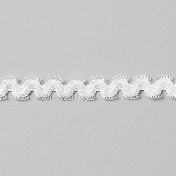 """Galon dentelé élastique """"Norma"""" [13 mm] - blanc"""