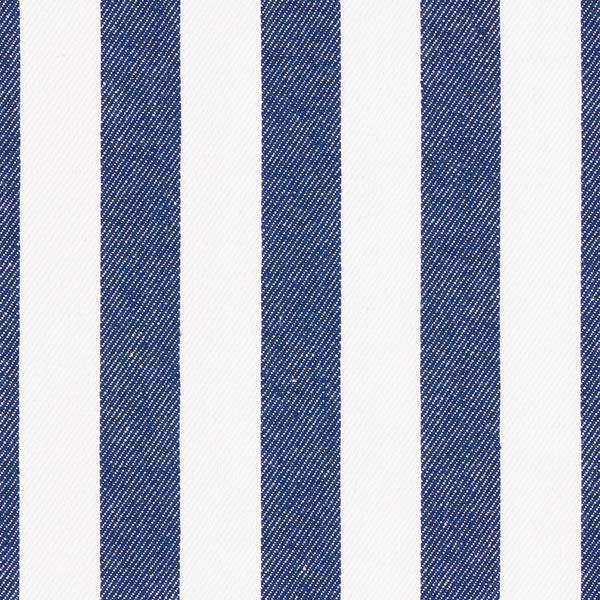 Baumwollköper Streifen – weiss/marineblau