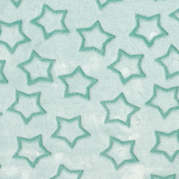 Wellnessfleece Sterne – schilf/weiss