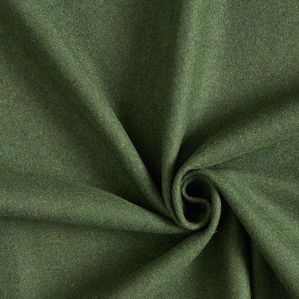 Feiner Mantel-und Jackenstoff Melange – dunkelgrün
