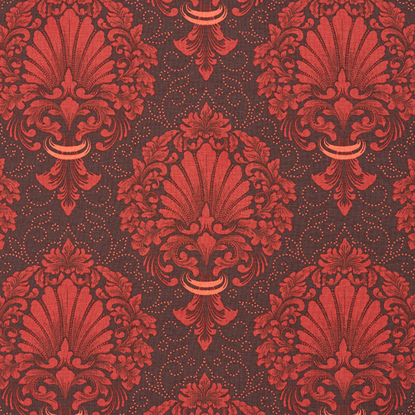 Jersey coton ornements floraux nobles – orange
