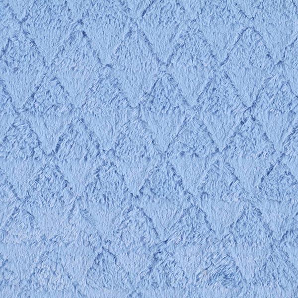 Teddyplüsch Dreiecke – hellblau