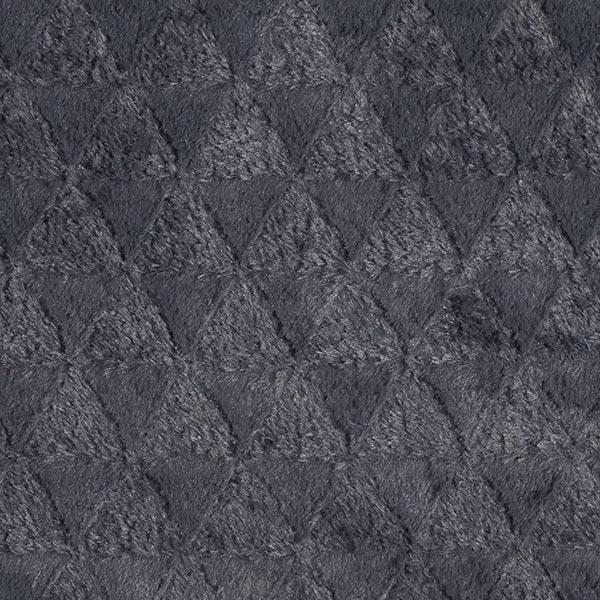 Teddyplüsch Dreiecke – dunkelgrau