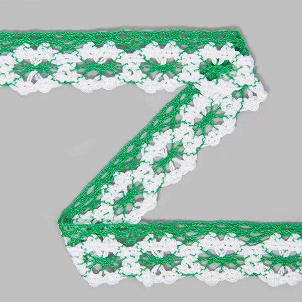 Baumwollspitze two tone [21 mm] - grün