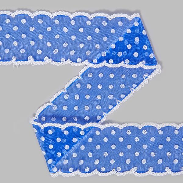 Organzaband Dots [30 mm] - königsblau | 9