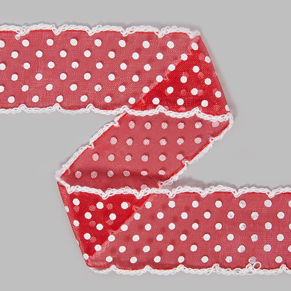 Organzaband Dots [30 mm] - rot | 11