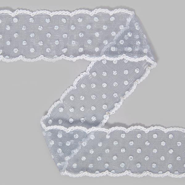 Organzaband Dots [30 mm] - grau | 14