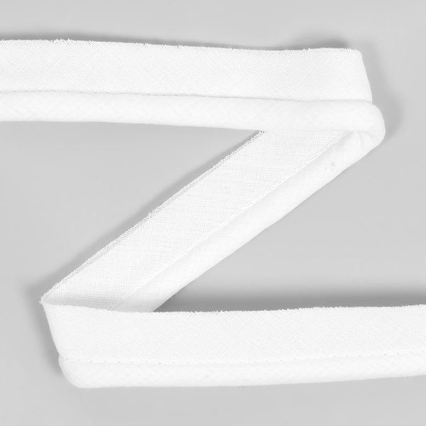 Galon passepoil en coton [20 mm] - blanc