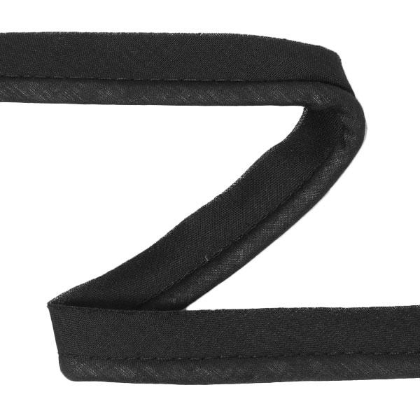 Galon passepoil en coton [20 mm] - noir