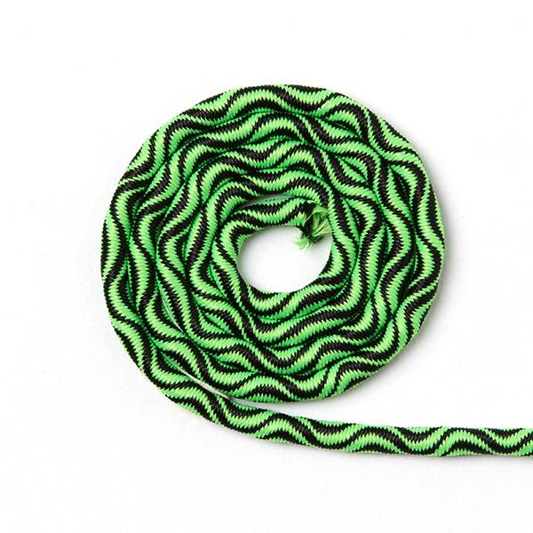 Cordon élastique Ondes [Ø 3 mm] - vert fluo