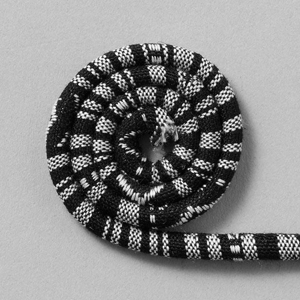 Cordon Ethno [6mm] – noir/blanc