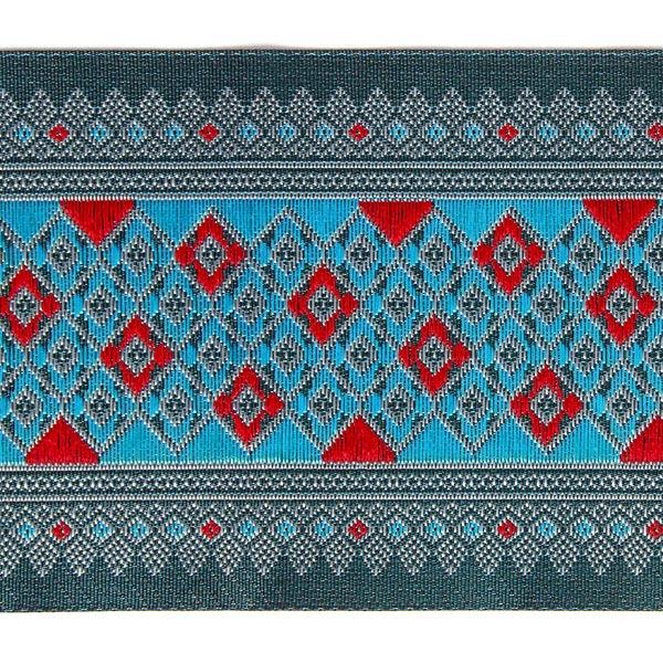 Galon Jacquard Ikat – turquoise