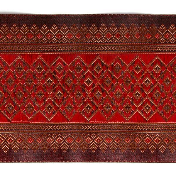 Galon Jacquard Ikat  – rouge