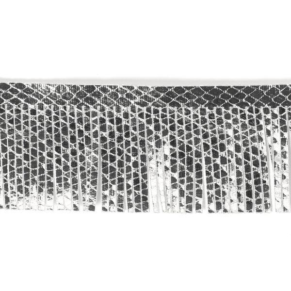 Franges similicuir, 4,5cm 4