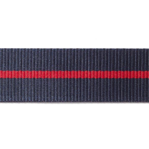Sangle Rayures [35mm] – bleu/rouge